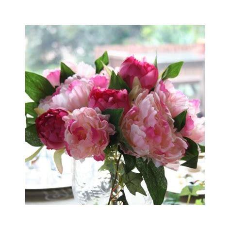 mathilde en cuisine bouquet de pivoines roses artificielles haut de gamme