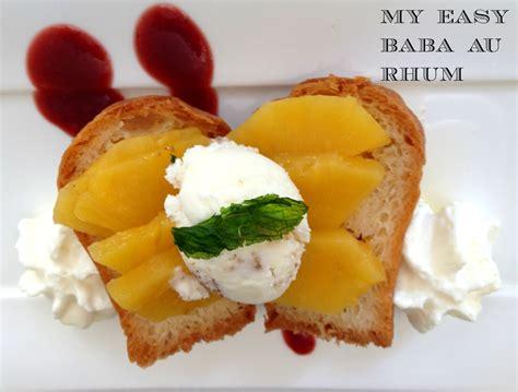 French cuisine My recipe: My revisited Baba au Rhum