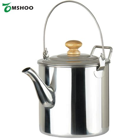 kettle camping pot stainless tea steel coffee water portable outdoor handle hiking aliexpress backpacking 3000ml
