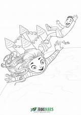 Trampoline Coloring Bouncy Castle sketch template
