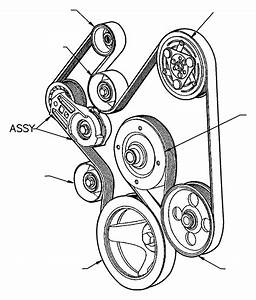 2003 Dodge Ram 2500 Belt  Accessory Drive  Serpentine