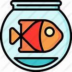 Fish Bowl Icon Premium Svg Icono Lineal
