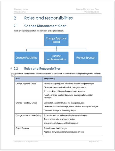 change management plan template software development change management templates