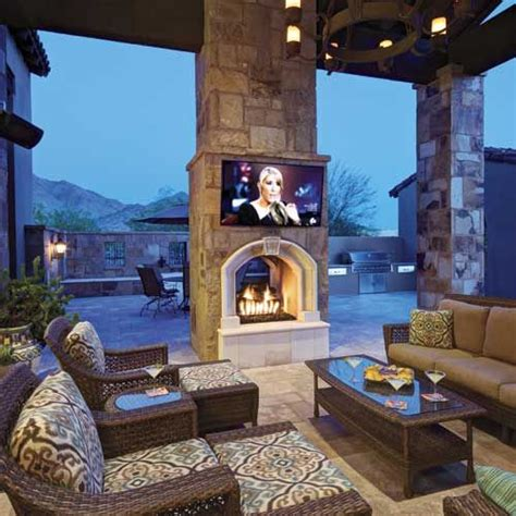 2 Sided Outdoor Fireplace - 16 sensational and contemporary two sided fireplace ideas