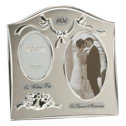 60th wedding anniversary gift silverplated wedding anniversary gifts 60th photo picture frame ebay
