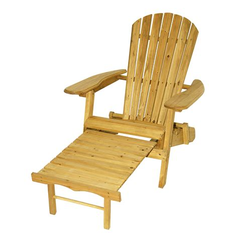 astonica folding wood adirondack chair with ottoman cedar