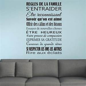 Noir creative regle de la famille stickers muraux pour for Faire une maison en 3d 15 sticker les ragles de la famille stickers muraux beestick