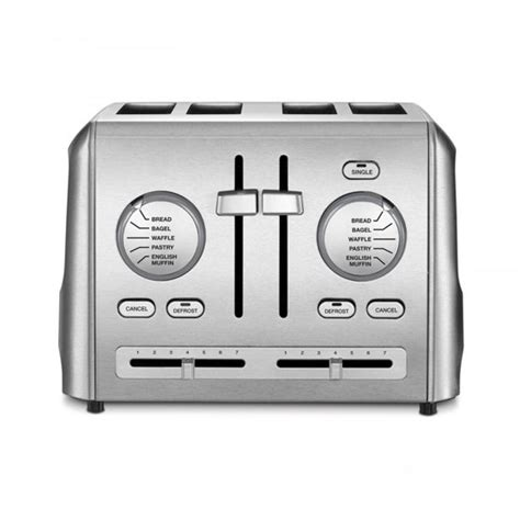 Stainless Steel 4 Slice Toaster by Cuisinart 4 Slice Toaster Stainless Steel Walmart