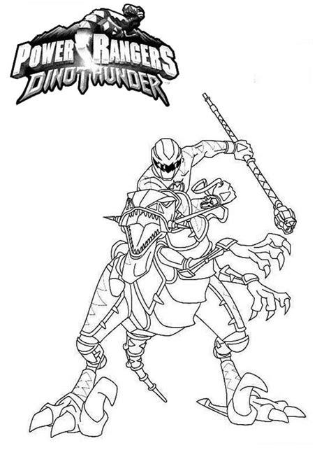 Kleurplaat Dino Power Rangers by Power Rangers Dinothunder Coloring Page Color