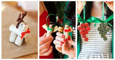 triple diy wine cork christmas ornaments