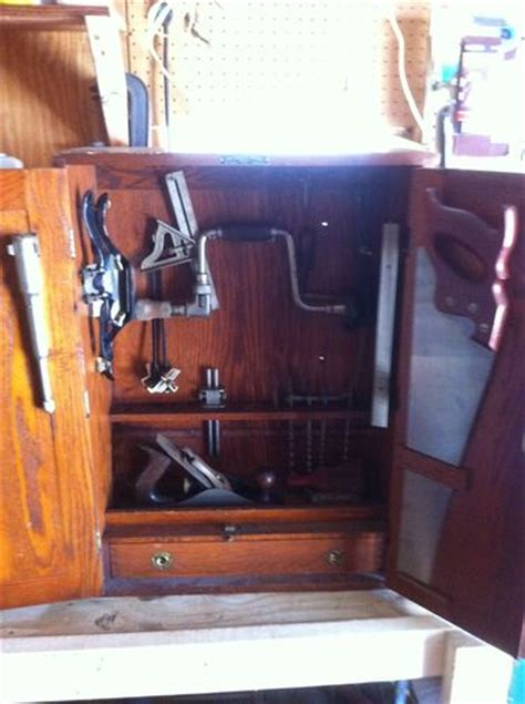 antique stanley oak tool chest  venicewoodworker  lumberjockscom woodworking community