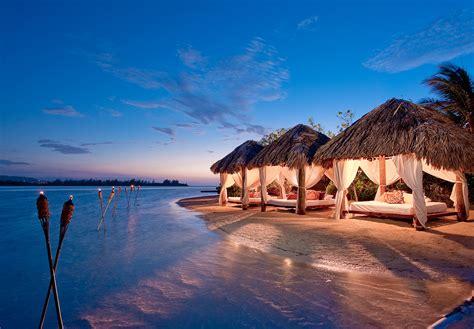 Aruba Beach Bungalownight Time Beach Cabanas Latitudes