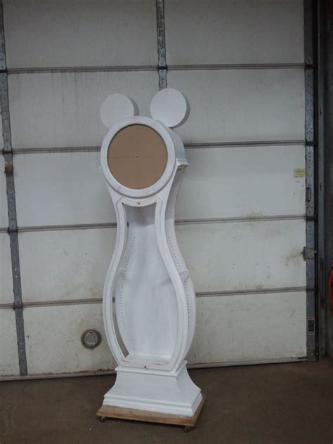 mickey mouse grandfather clockdisplay cabinet