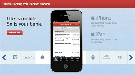bank of america phone app bank of america using text to to increase app