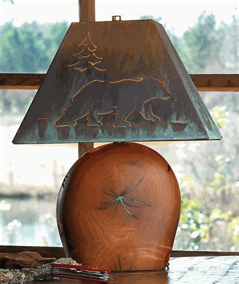 mesquite lamp  copper bear shade