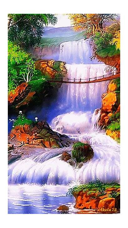 Giphy Nature Amazing Places Gifs Animation Waterfall