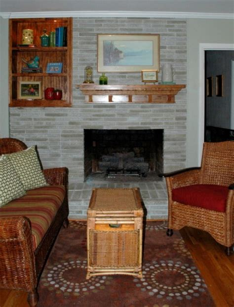 solution   dated brick fireplace