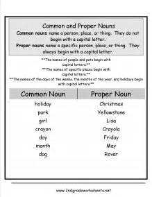 noun printable worksheets common and proper nouns worksheet