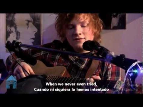 Ed Sheeran  Sunburn Subtitulado Españolingles Youtube