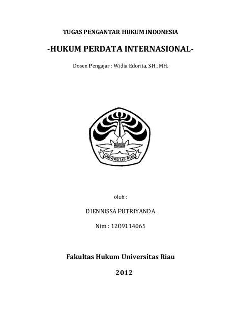 Contoh Resume Hukum Perdata Internasional - 600 Tips