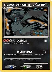 Pokémon Shadow Tao Reshiram - Oblivion - My Pokemon Card