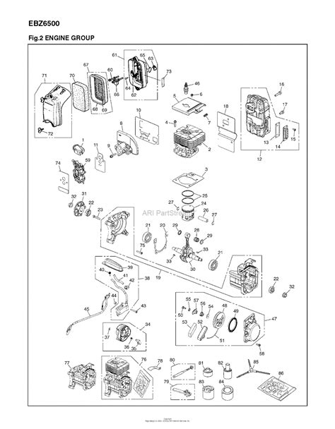 red max ebz   parts diagram  engine