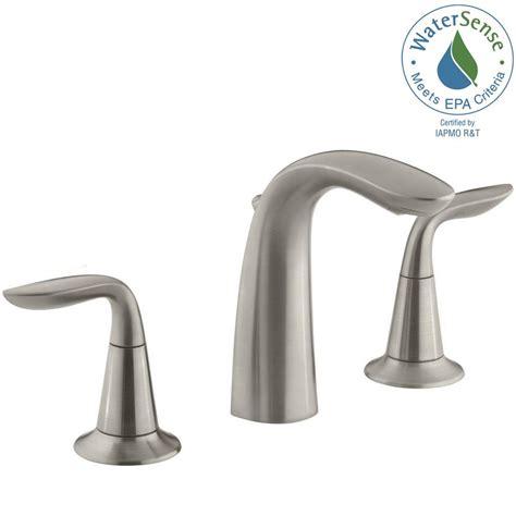 Kohler Brushed Nickel Kitchen Faucet by Kohler Refinia 8 In Widespread 2 Handle Bathroom Sink
