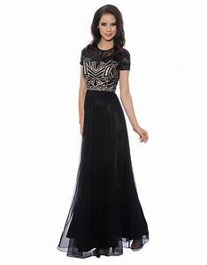Sequined chiffon gown lord and taylor prom for Lord and taylor wedding dresses