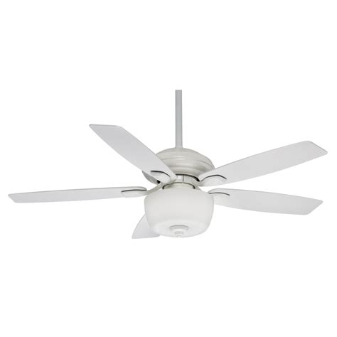 omega casablanca white ceiling fan with light remote shop casablanca utopian gallery 52 in snow white downrod