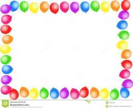 Birthday Balloons Border