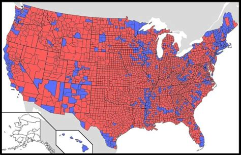 Dzine Forget The States Red Blue Counties