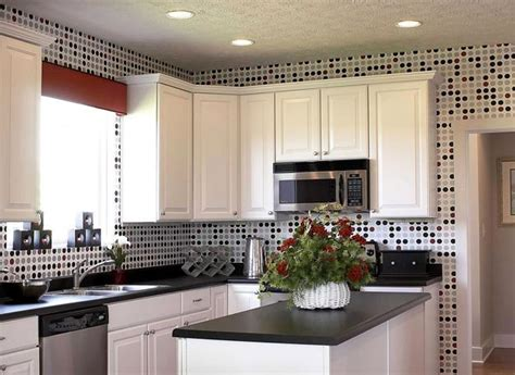wallpaper in kitchen ideas white kitchen cabinets and modern wallpaper ideas for