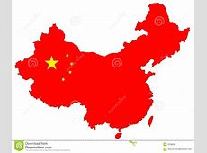 Isolated red map of China stock illustration Illustration