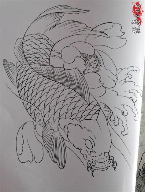Tô vẽ hình xăm theo đường viền sẵn có. Bộ sưu tập hình xăm cá chép kèm bản vẽ tay kinh điển TQ (P1) - Blog Hình Xăm Đẹp