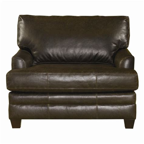 bassett cu 2 upholstered leather chair and a half v