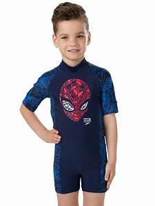speedo marvel toddler boys sun protection suit
