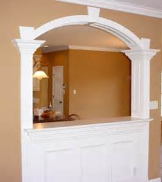 simple kitchen interior circular based arches part 1 one centered and two