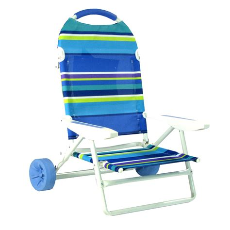 chaise plage pliante folding chair on wheels cart by on the hunt