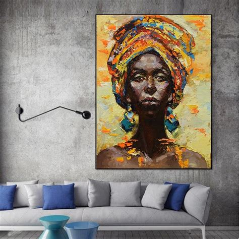 Abstract Black Portrait Painting by Abstract Portraits Black Canvas Picture