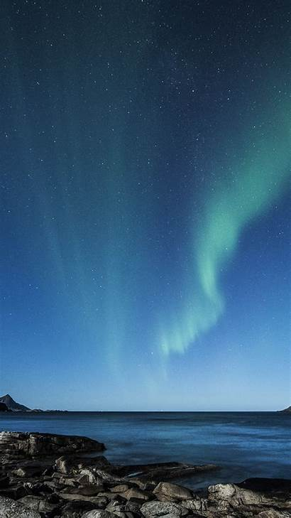 Sky Night Aurora Space Star Sea Iphone