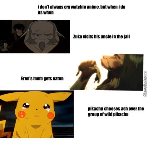 Sad Anime Memes - sad anime moments by imveryfunny meme center