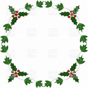 Holly and ivy yule round frame 24715 borders and frames download royalty free vector clip art for Holly and ivy border