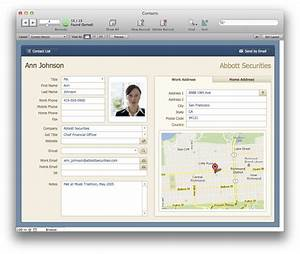 the mac office contacts filemaker pro 12 starter solution With filemaker pro 13 templates