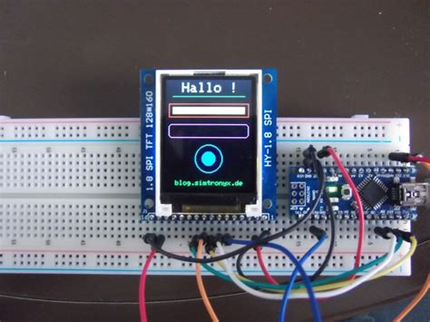 a 1 8 inch tft color display hy 1 8 spi and an arduino arduino pinterest arduino