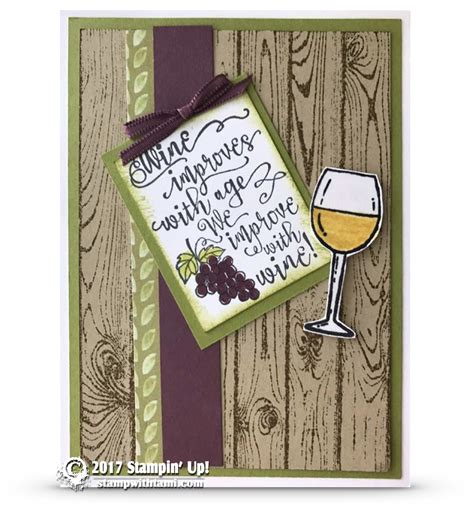Card Wine Improves With Age From The Half Full Stamp Set