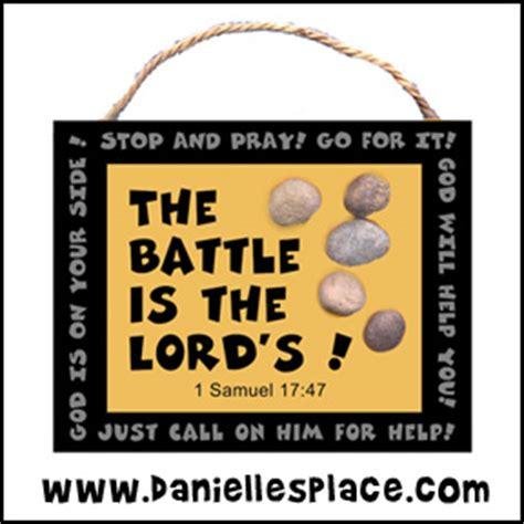 bible themes david 895 | david and goliath stone craft