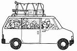 Clipart Van Vacation Clip Road Getting Into Trip Coloring Cliparts Train Pages Camp Minivan Silhouette Drawings Trips Library Mini Precious sketch template
