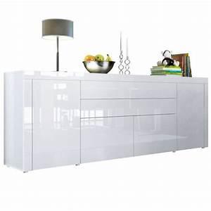 Buffet 200 Cm : buffet blanc int gralement laqu 200 cm achat vente ~ Teatrodelosmanantiales.com Idées de Décoration