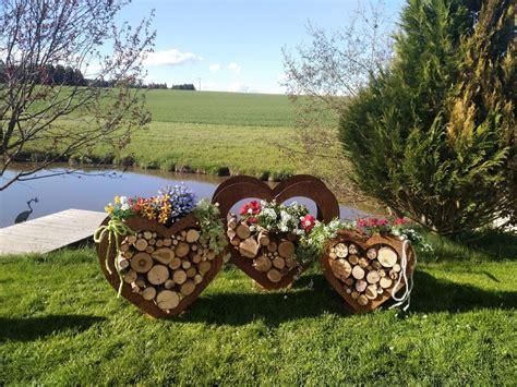 Holz Deko Garten Kaufen by Herz Aus Metall Holz Regal Edel Rost Garten Terrasse