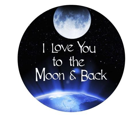wall decor end i you to the moon and back 11 inch